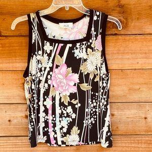 Sleeveless elegant floral blouse